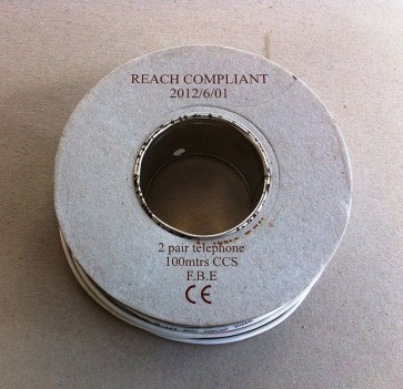 2 Pair Telephone Cable CCS (copper covered steel cores)