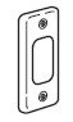 Legrand Synergy 833380 Frontplate, 1 Gang 1 Module Architrave, Polished Stainless Steel, Size: 86x36mm