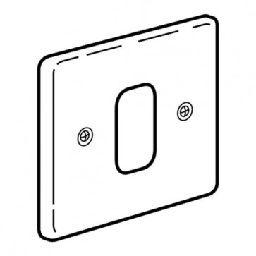 Legrand Synergy  833391 Frontplate, 1 Gang 1 Module Small Aperture, Polished Stainless Steel, Size: 86x86mm