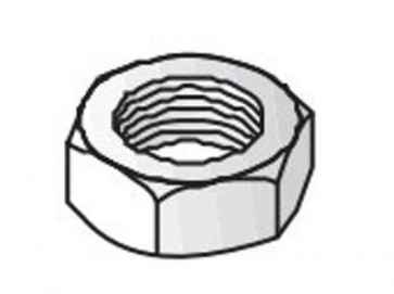 Unistrut Channel 9345M6 Nut, Hexagon, Size: M6