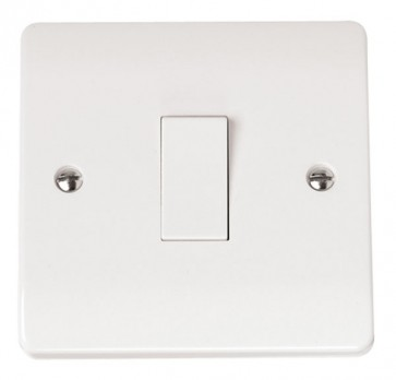 Scolmore CMA011 10AX 1 Gang 2 Way Plate Switch