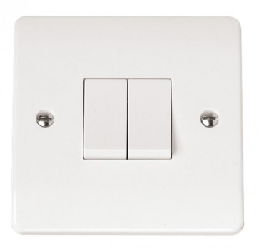 Scolmore CMA012 10AX 2 Gang 2 Way Plate Switch