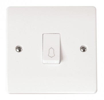 Scolmore CMA027 10AX 1 Gang 1 Way Retractive Bell Switch