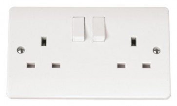 Scolmore CMA036 13A 2 Gang DP Switched Socket