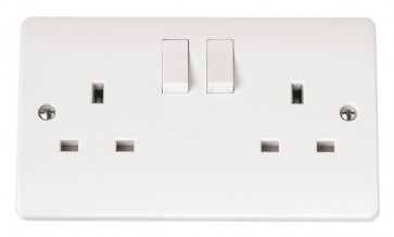 Scolmore CMA037 13A 2 Gang DP Switched Clean Earth Socket