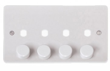 Scolmore CMA148PL 2 Gang Unfurnished Dimmer Plate & Knobs (1600W Max)