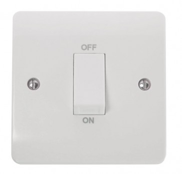 Scolmore CMA500 45A 1 Gang DP Switch With White Rocker