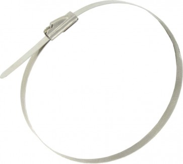 Deligo CTSS300 4.6 x 300 Stainless Steel Ball Lock Cable Tie (Pack of 100)