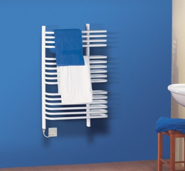 Dimplex BR400W 400W Dual Fuel Ladder Style Towel Rail White