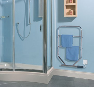 Dimplex TTRC130 80W Water Glycol Filled Electric Towel Rail Chrome