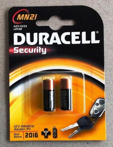 Duracell MN21 PK2 12V A23 Alkaline Battery (Twin Pack)