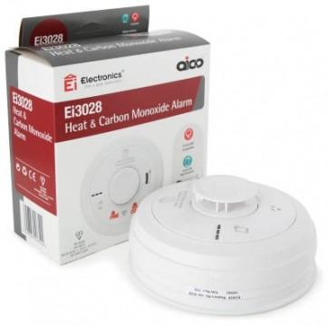 Aico EI3028 Alarm, Fire & CO Multi-Sensor Mains, 10Yr Lithium Back-up Easi-fit Base