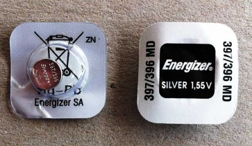 Energizer 396 1.55V Silver Oxide button cell battery