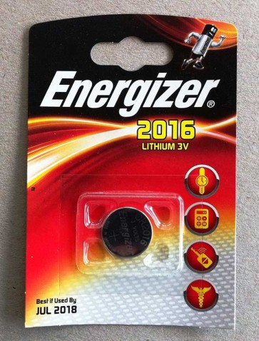 Energizer CR2016 3V lithium button cell battery