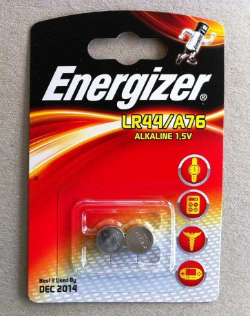 Energizer LR44 PK2 1.5V Alkaline Button Cell Battery (Twin Pack)