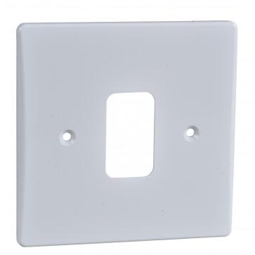 Schneider GUG01G Ultimate 1 Gang Moulded Plate Grid System White