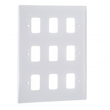 Schneider GUG09G Ultimate 9 Gang Moulded Plate Grid System