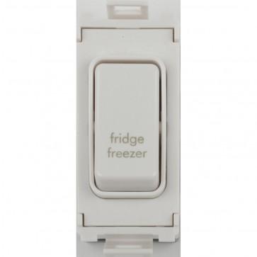 Schneider GUG20DPFFZW Ultimate 2 Pole 1 Way Grid System Switch Module (Fridge/Freezer)