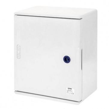 GEWISS GW46001F, Enclosure, Watertight c/w Blank Door & Lock, IP66, Size:250x300x160mm