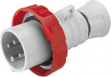 Gewiss GW60030H Plug, 3P+E 6h, IP66/IP67/IP68/IP69 Screw Wiring, Size: 16A 400V 50/60Hz