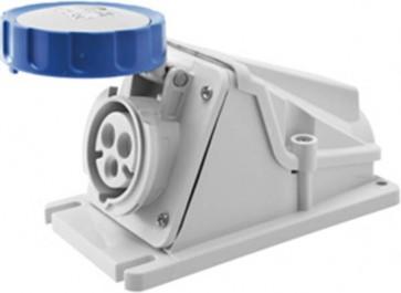 Gewiss GW62511, Socket, Low Voltage Watertight Surf 2P+E, Size: 32A 220V