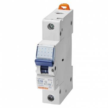 Gewiss GW92207 1 Pole 16A 1 Module Miniature Circuit Breaker
