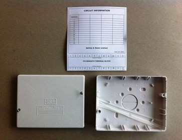 Hager J701 Rectangular Junction Box, White, terminals not included