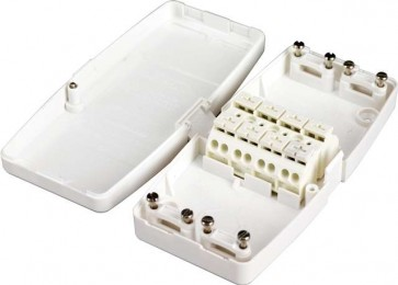 Hager J804 Maintenance Free Junction Box, 20 Amp, 4 Terminals (Power), White