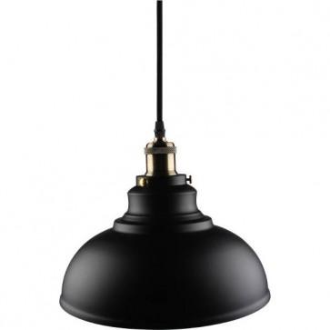 Kosnic KPDT1E27-BLK 60W E27 Pendant Cable Set with Bowl Lampshade