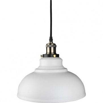 Kosnic KPDT1E27-WHT 60W E27 Pendant Cable Set with Bowl Lampshade