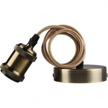Kosnic KPDTCS1E27-BRZ 60W E27 Pendant Cable Set without Lampshade