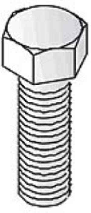 Unistrut Channel M10X40, Bolt, Hexagon 8.8 High Tensile, Size: M10x40mm