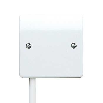 MK Logic K1090WHI Frontplate, 1 Gang Flex Outlet