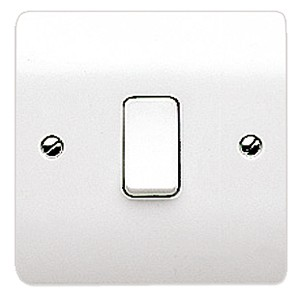 MK Logic K4875WHI 1 Gang Intermediate Plate Switch