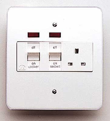 MK Logic K5011WHI Cooker Control Switch, DP Main Switch & Socket c/w Neon