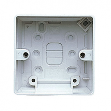 MK Logic K2031WHI Box, 1 Gang Surface