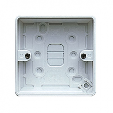 MK Logic K2140WHI Box, 1 Gang Surface