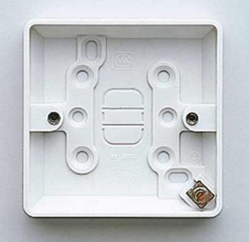 MK Logic K2160WHI Box, 1 Gang Surface