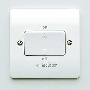 MK Logic K4857WHI Isolator, 10 A 3P Fan c/w Switch Lock & Padlock