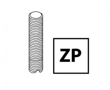 Unistrut Channel M6X3MZP, Threaded Rod, Size:M6x3m