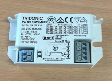 Tridonic PC 1x5-16 W BASIC Compact basic ballast