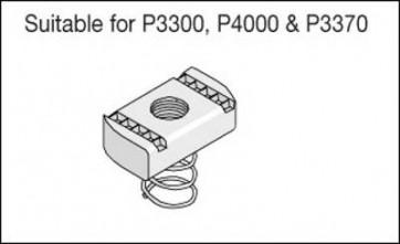 Unistrut Channel PNS08ZP, Channel Nut, Short Spring, Size: M8