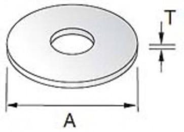 Unistrut Channel PYWM10X25 Washer, Penny, Size:M10x25mm