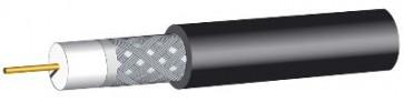 Black RG6 satellite cable (100m)
