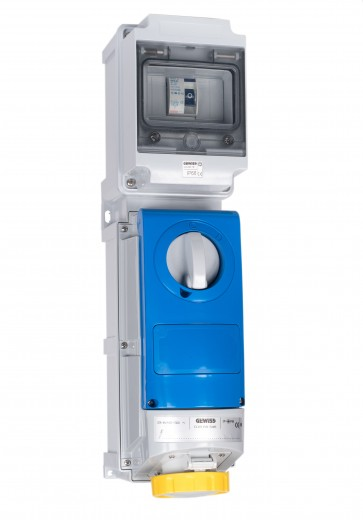 Gewiss UK01446 Interlock Socket  32A 110V 2P+E, c/w 40A RCD