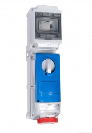 Gewiss UK01449 Interlock Socket 32A 415V 3P+N+E, c/w 40A RCD