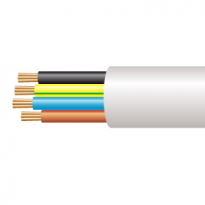 0.75mm² 3184Y 4 Core Flexible PVC Cable, White