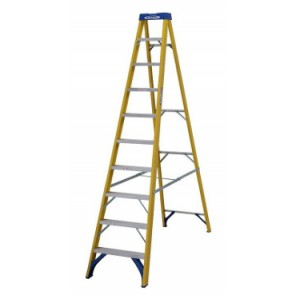 Image displayed is 71610 Stepladder Fibreglass 10 Tread
