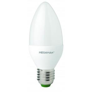 Megaman 143280  LED Lamp 6W Opal Candle Dimming  E27 2800K