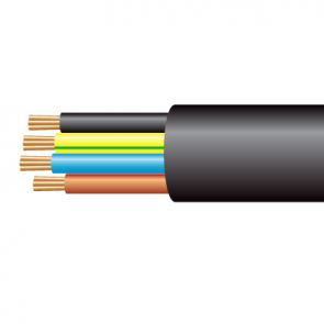 1.0mm² 3184Y 4 Core Flexible PVC Cable, Black